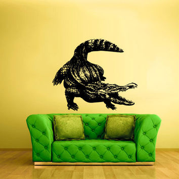 rvz1595 Wall Vinyl Sticker Decals Decor Alligator Crocodile Animal Croc