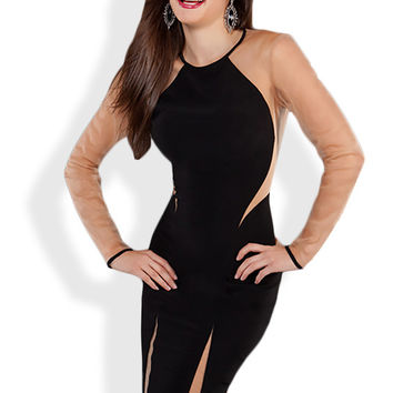 Jovani 73650 - Long Sleeved Dress