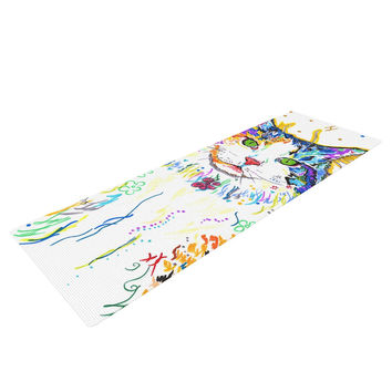 "Rebecca Fischer ""Royal"" Rainbow Cat Yoga Mat"