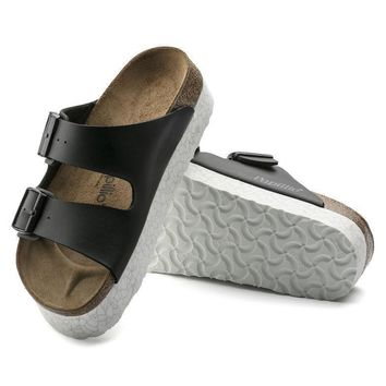 Sale Birkenstock Arizona Birko Flor Monochrome Marble Black 1009056 Sandals