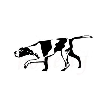 Hunting Dog Animal Car Stickers Wall Home Glass Window Door Laptop Auto Truck Bumper Van Vinyl Decal Decor Black 18.0cmX8.2cm