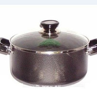 2 Handle Non-Stick Sauce Pot With Glass Lid- 2.5, 3.5, 5 Quart