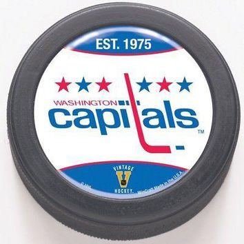 Licensed Washington Capitals Official NHL Hockey Puck by Wincraft 658067 KO_19_1