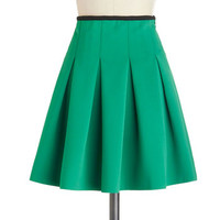 Working Order Skirt in Green | Mod Retro Vintage Skirts | ModCloth.com