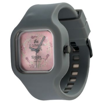 Proverbs 31 Bible Verse Strength and Dignity Watch