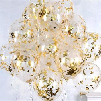 10pcs Celebration Event Clear Balloons Anniversary Balloons ✈ Worldwide Delivery