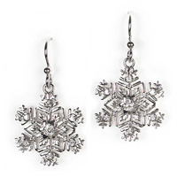 Jody Coyote Earrings from the Snowflake Collection - Wheat Snowflake