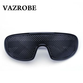 Vazrobe Pinhole Glasses Black Anti Fatigue Hallow Sunglasses Small Hole Anti Myopia Eyewear High Quality Plastic Dropshipping