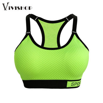 Sexy Women Push Up Bra   Shirts  Crop Tops Breathable  Stretch Underwear No Bound Padding Ropa Deportiva