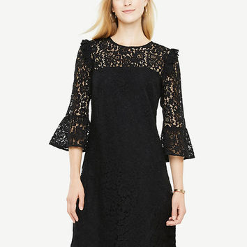 Bell Sleeve Lace Shift Dress | Ann Taylor