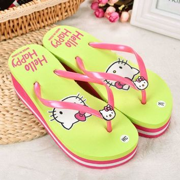 ac PEAPON Stylish Design Beach Anti-skid Slippers Summer Home Ladies Cats Sandals [10210886860]