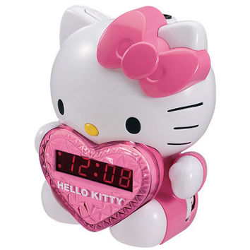 Hello Kitty AM/FM Projection Clock Radio — QVC.com