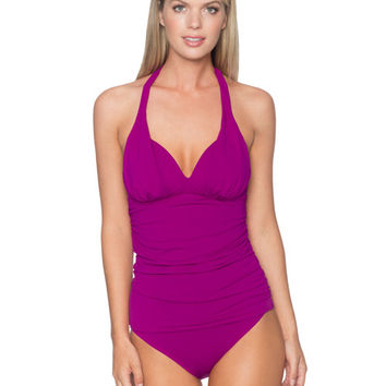 Sunsets Separates Foxglove - Harlow Shirred Tankini Top
