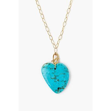 Chan Luu Turquoise Heart Necklace