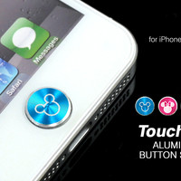 Strapya World : Touch Me! Disney Aluminium Home Button Stickers For iPhone/iPad (Mickey profile)