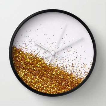 My Favorite Color Ii (not Real Glitter   Photo) Wall Clock By Galaxy Eyes