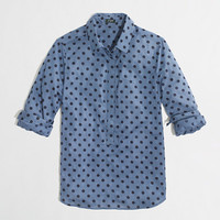 Factory polka-dot popover - washed shirts - FactoryWomen's Shirts & Tops - J.Crew Factory