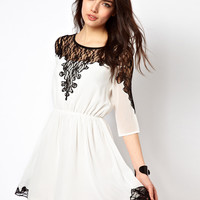 Rare Lace Insert Dress