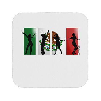 Mexican Flag - Dancing Silhouettes Coaster by TooLoud