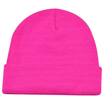 Disney The Lion King Hakuna Matata Hot Pink Women Ladies Cuffed Beanie Knit Hat