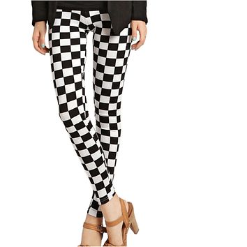 Women Grid Pattern Leggings