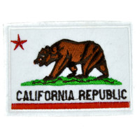 California State Flag Patch Iron on Applique Alternative Clothing