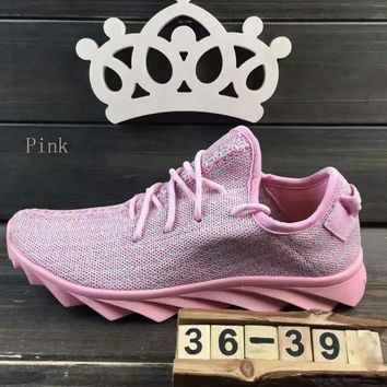 """ADIDAS""Fashion running Classic coconut shoes mesh couples sports shoes Pink"