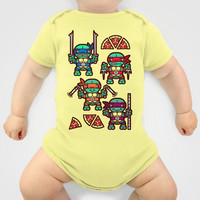Teenage Mutant Ninja Turtles Pizza Party Onesuit by chobopop