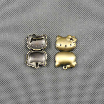 1x Making Jewellery Supply Supplies Pendant anhaenger Jewelry Findings Charms Schmuckteile Charme 4-A2671 kitten Box