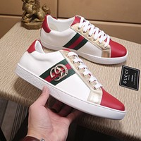 Gucci Men Embroidery Old Skool Sneakers Sport Shoes Best Quality White
