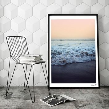 Nordic Ocean Love Print and Poster Wall art Sea Canvas Painting Picture for Living Room Home Decor