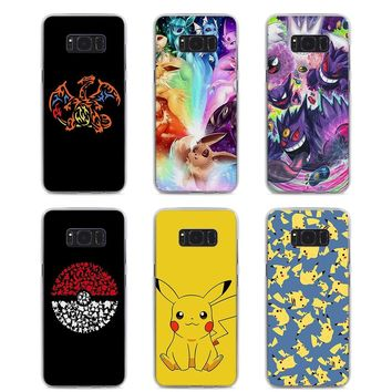 MOUGOL cartoon pokemons eevee pika Style hard Clear Phone Case for Samsung S9 S9Plus S8 S8Plus S6 S7 edge S5 Note8 5 4
