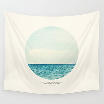 Salt Water Cure Wall Tapestry by Tina Crespo