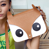 2016 Spring Handbag New Women Ladies Retro Shoulder Bag Small Cute Casual Bag Owl Fox PU Vintage women's handbags