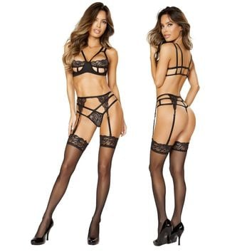 Lace To The Top Lingerie Set