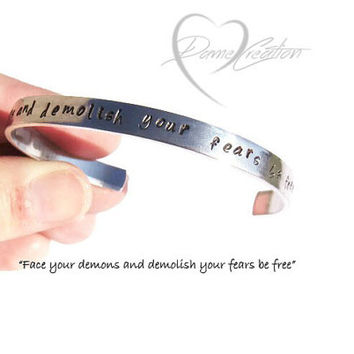Bracelet Cuff - Inspirational Bracelet - Bracelet with Words - Poetry Bracelet - Poetic Jewelry - Skinny Bracelet - Encouraging Bracelet
