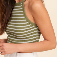 Must-Have High Neck Cropped Tank