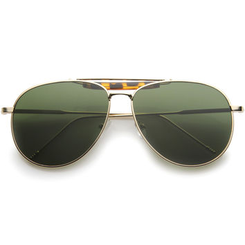 Modern Fashion Top Bar Flat Lens Aviator Sunglasses A212