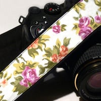 dSLR Camera Strap. Floral Camera Strap. Women accessories