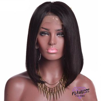 Brazilian Straight Bob Style Lace Front Wig