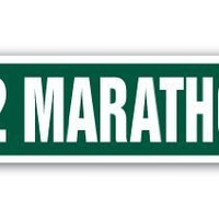 26.2 MARATHON Street Sign runner shoes jog jogging run