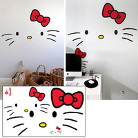 BLIK - HELLO KITTY FACES WALL GRAPHICS