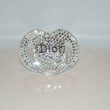Baby Bling Pacifier Dior made with Swarovski Crystal By Crystalolika