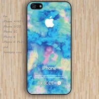 iPhone 5s 6 case blue watercolor Dream colorful phone case iphone case,ipod case,samsung galaxy case available plastic rubber case waterproof B474