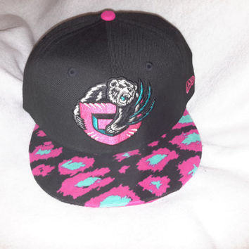 Vancouver Grizzlies South Beach Leopard Custom snapback