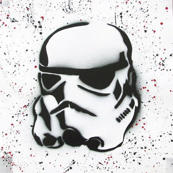 storm trooper spray paint art,storm trooper helmet,star wars poster,star wars men birthday,star wars art,painting,darth vader,geek art,movie