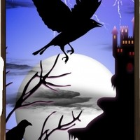 GrabYourDesign - Case for Sony Xperia M2 Raven's Haunted Castle - by BluedarkArt