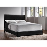 Coaster Conner Upholstered Platform Full Bed in Black - Walmart.com