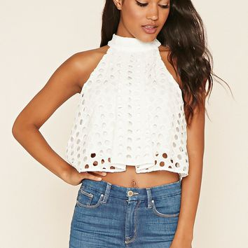 Perforated Crochet Top