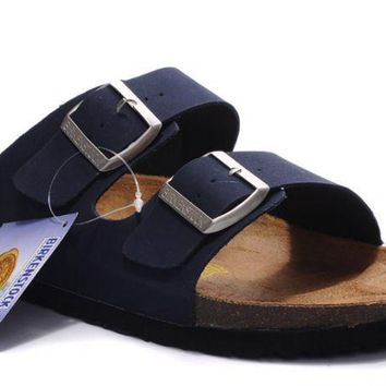 Birkenstock Arizona Sandals Suede Dark Blue